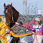 ばんえい競馬 ミサキスーパー引退式 帯広競馬場 2008.1.27